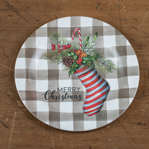 Striped Stocking Plate - Vintage Crossroads