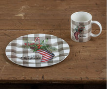 Load image into Gallery viewer, Striped Stocking Plate - Vintage Crossroads