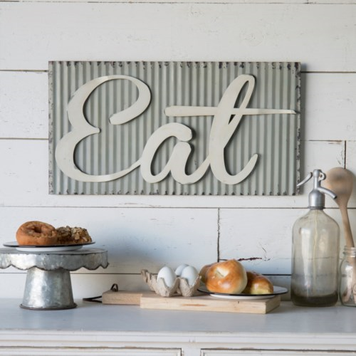 Corrugated Metal Eat Sign - Vintage Crossroads