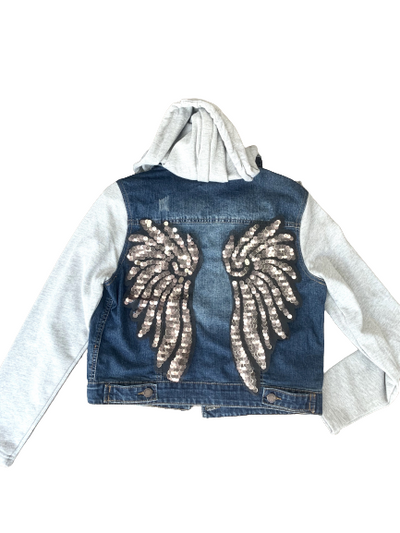 Chamarra denim wings