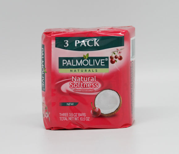 Palmolive Naturals BAr Soap Palm Nat Cherry & Coconut Milk 100G/3.5OZ 3pk