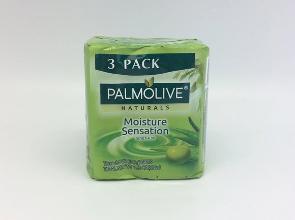 Palmolive Naturals Bar Soap Olive & Aloe 100G/3.5OZ 3pk