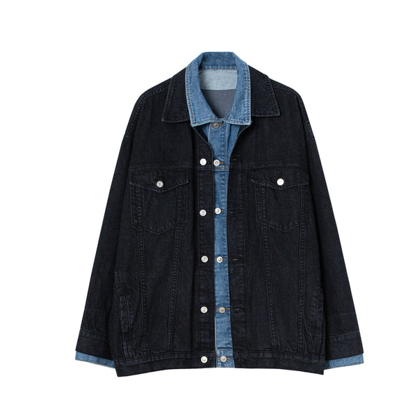 Double Collar Denim Jacket