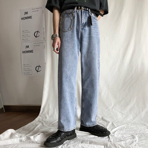 Back Pocket Wash Denim Pants