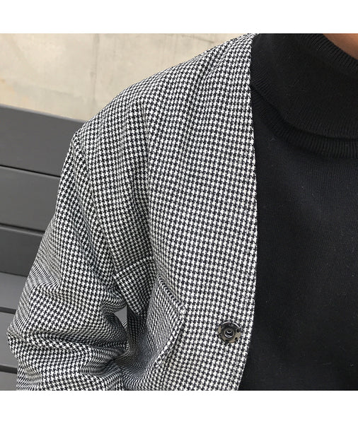 Wide Pocket Houndstooth Jacket