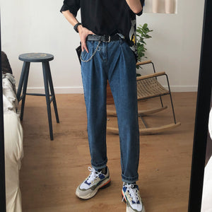 Loose Straight Fall Denim Pants