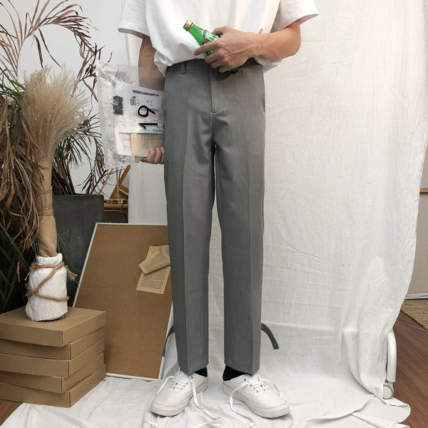 Back Button Up Straight Pants