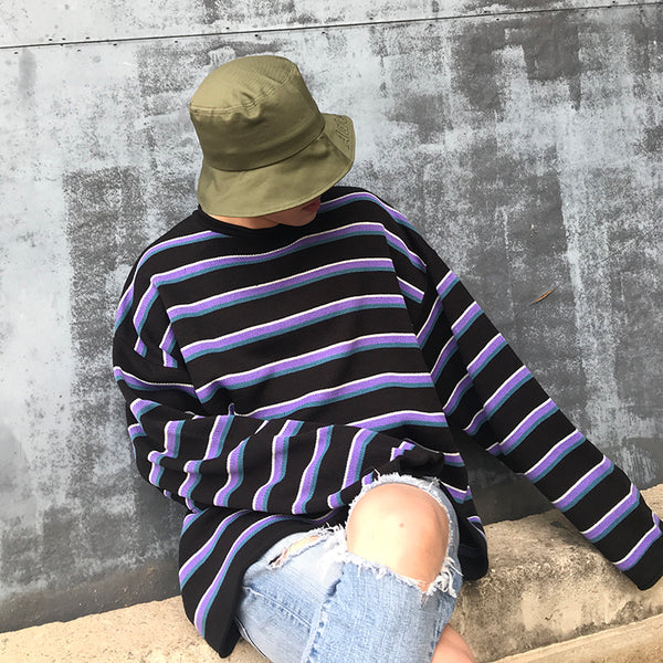 Tricolor Striped Sweater