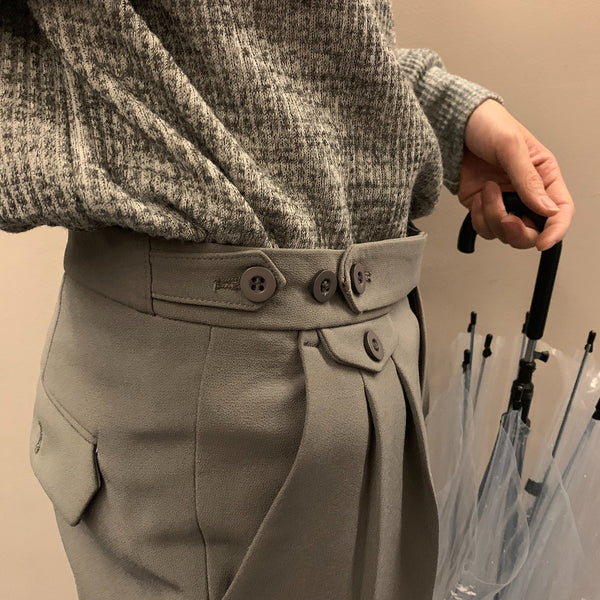 Button Up Trouser Pants