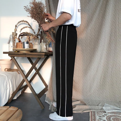 Casual Line Straight Loose Pants
