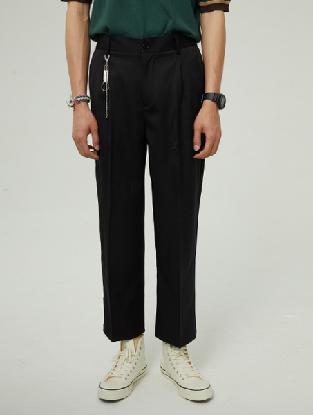 Chain Accent Trouser Pants