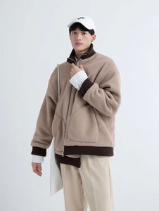 Oversized Pocket Fleece Jacket