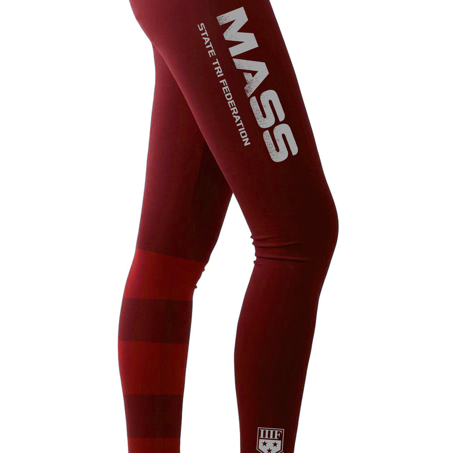 STATE FED LEGGINGS - MASSACHUSETTS - MAROON