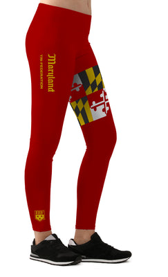 STATE FED LEGGINGS - MARYLAND - RED
