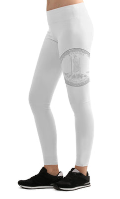 STATE FED LEGGINGS - VIRGINIA - WHITE