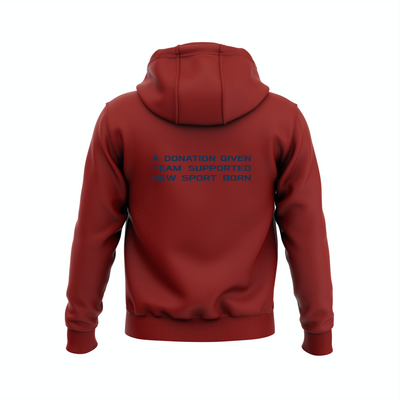 National TRIBALL® Hoodie - USA - GARNET