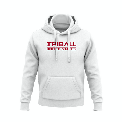National TRIBALL® Hoodie - USA - WHITE