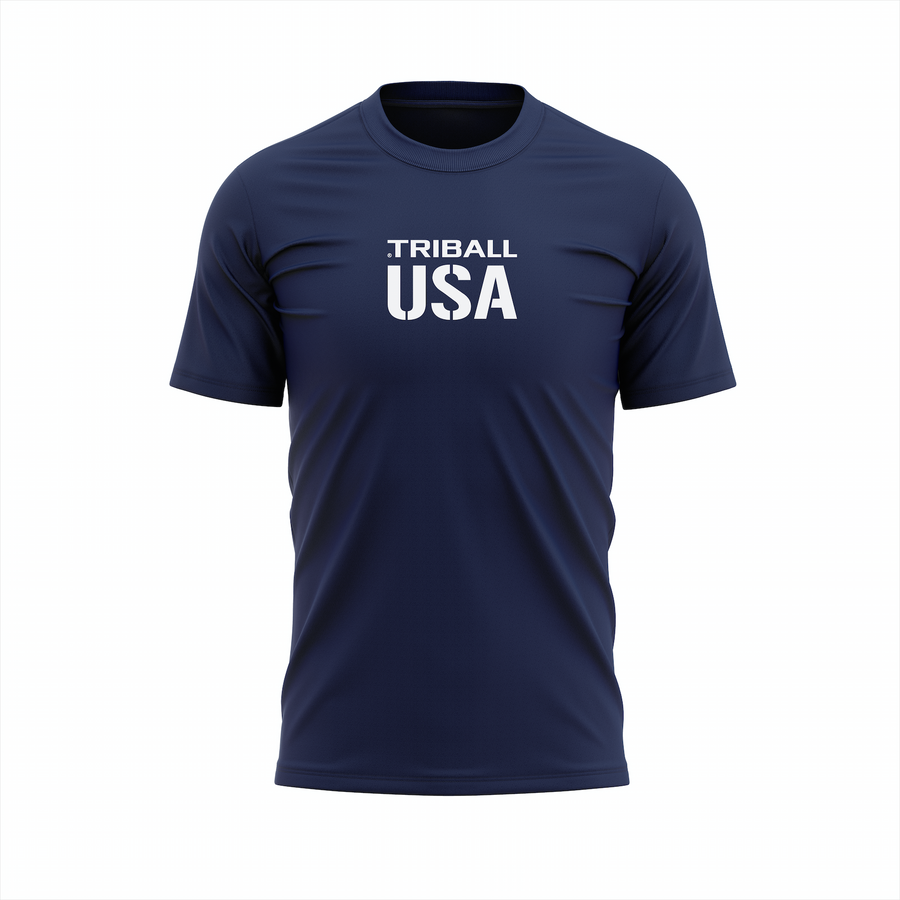 NATIONAL TRIBALL® - MEN'S T-SHIRT - USA - NAVY