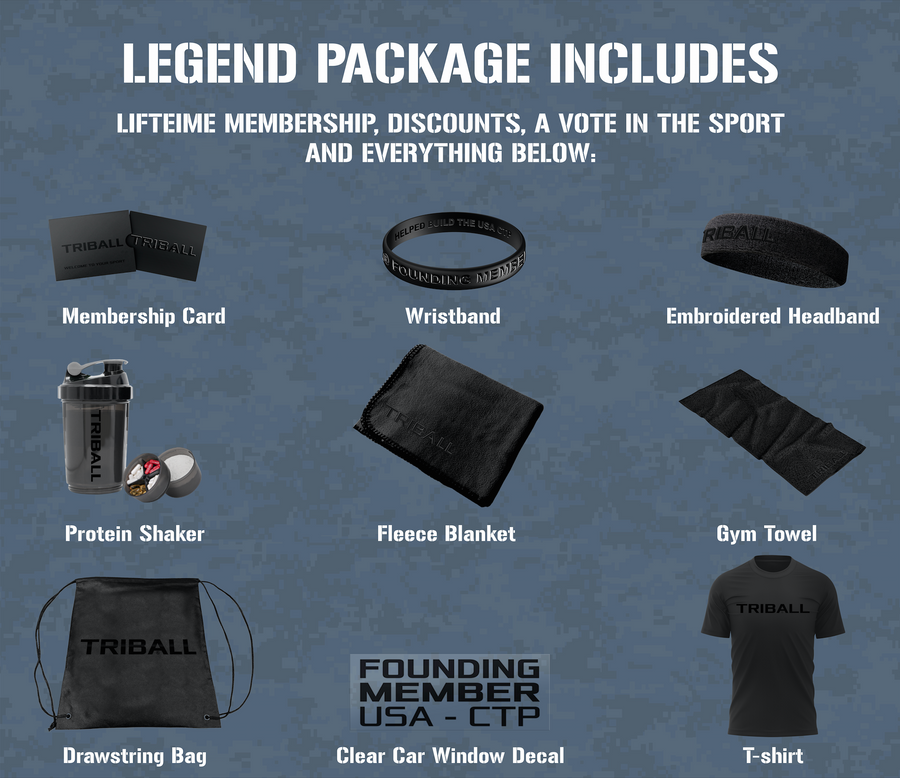 Crowdfund Legend Package: 11 Items + TRIBALL® NH Jersey Men's