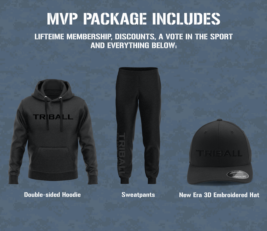 Crowdfund MVP Package: 17 Items + TRIBALL® RI Jersey Men's