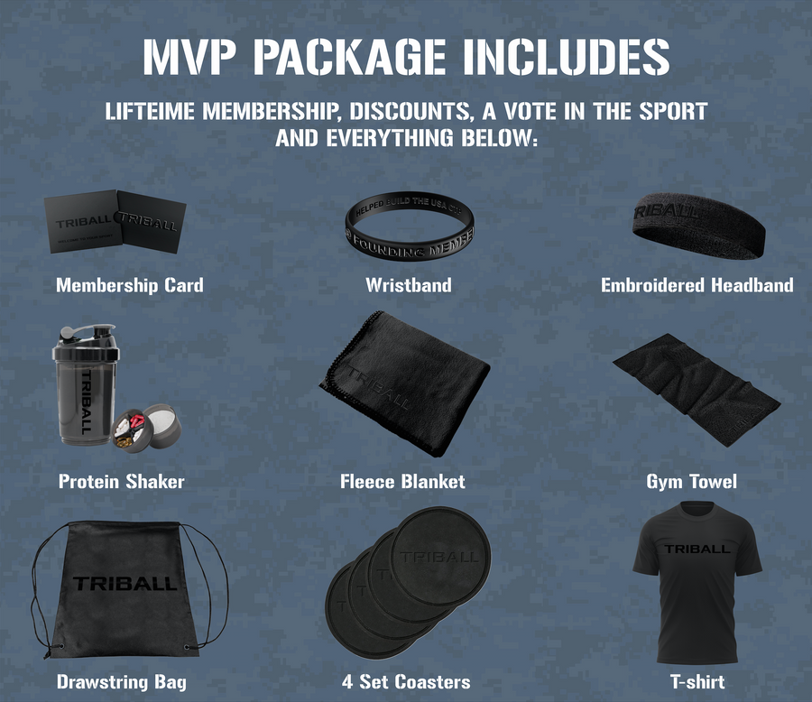 Crowdfund MVP Package: 17 Items + TRIBALL® USA Jersey Men's