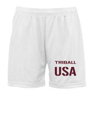 "NATIONAL TRIBALL® ""5 LITE SHORTS - USA - WHITE"