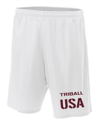 NATIONAL TRIBALL® LITE SHORTS - USA - WHITE