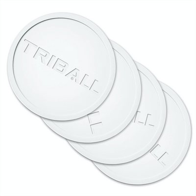 TRIBALL Logo White Coasters - 4 Pack