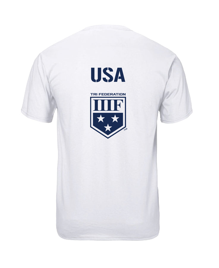 VERTICAL NATIONAL T-SHIRT - USA - WHITE