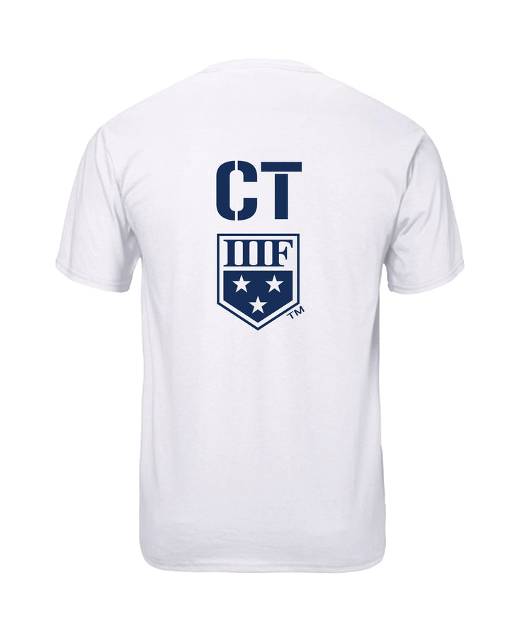 VERTICAL STATE T-SHIRT - CONNECTICUT - WHITE
