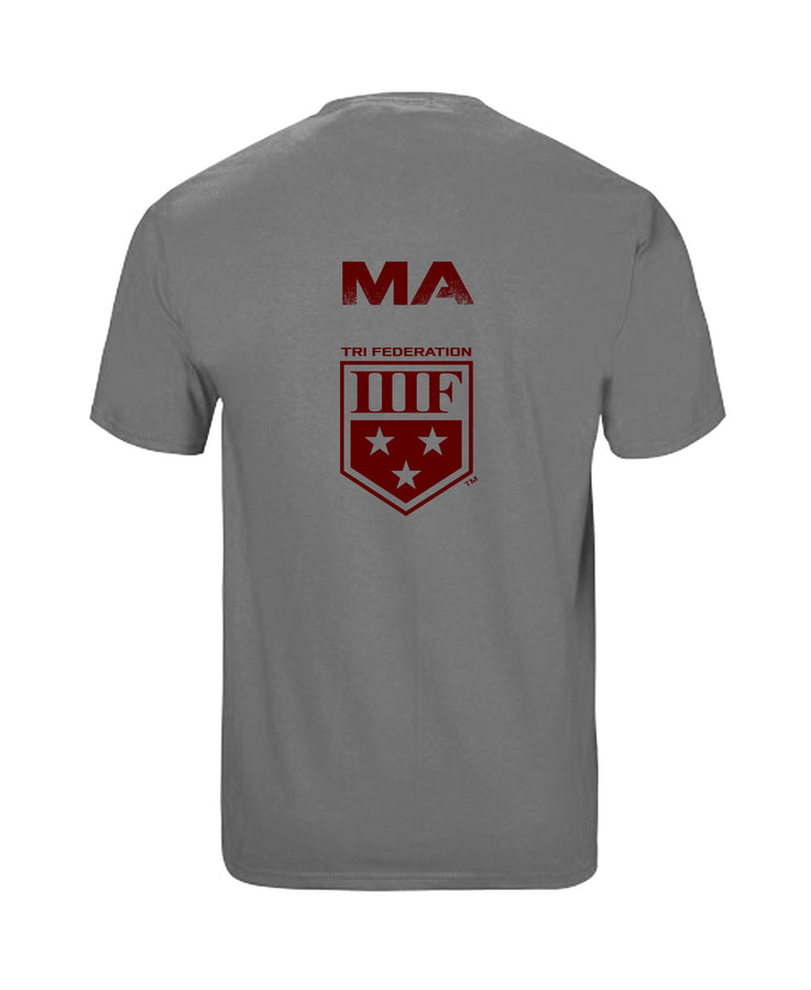 VERTICAL STATE T-SHIRT - MASSACHUSETTS - GREY