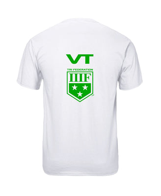 VERTICAL STATE T-SHIRT - VERMONT - WHITE