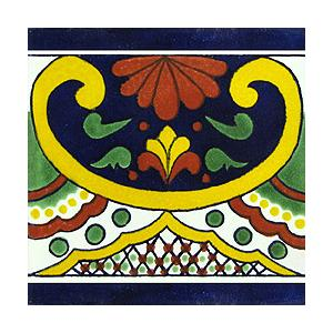 Mexican Hand Painted Tiles - Fair Trade - Smoky Mountain Fresh Roast Coffee