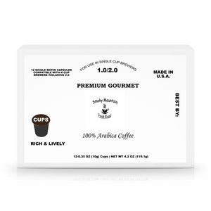 60 Pack Single Serve Coffee Capsules - Smoky Mountain Fresh Roast Coffee