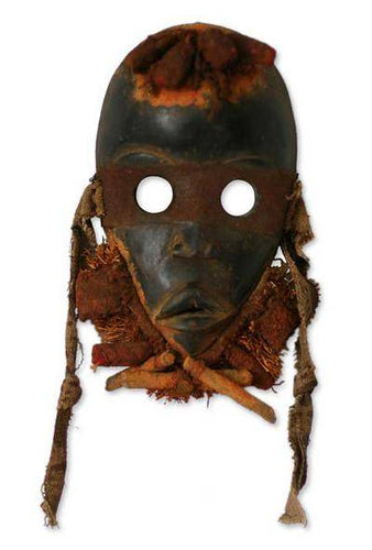 West African Handmade Zuchiya (heart) Mask - Smoky Mountain Fresh Roast Coffee