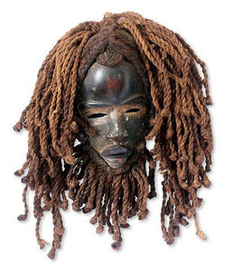 Liberian Handmade Wood Mask - Smoky Mountain Fresh Roast Coffee