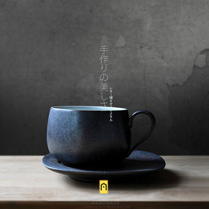 Japanese Artist Created 100% Handmade Coffee or Tea Mug - Japan Simple Style High Quality Limited Quantity Cups - Smoky Mountain Fresh Roast Coffee