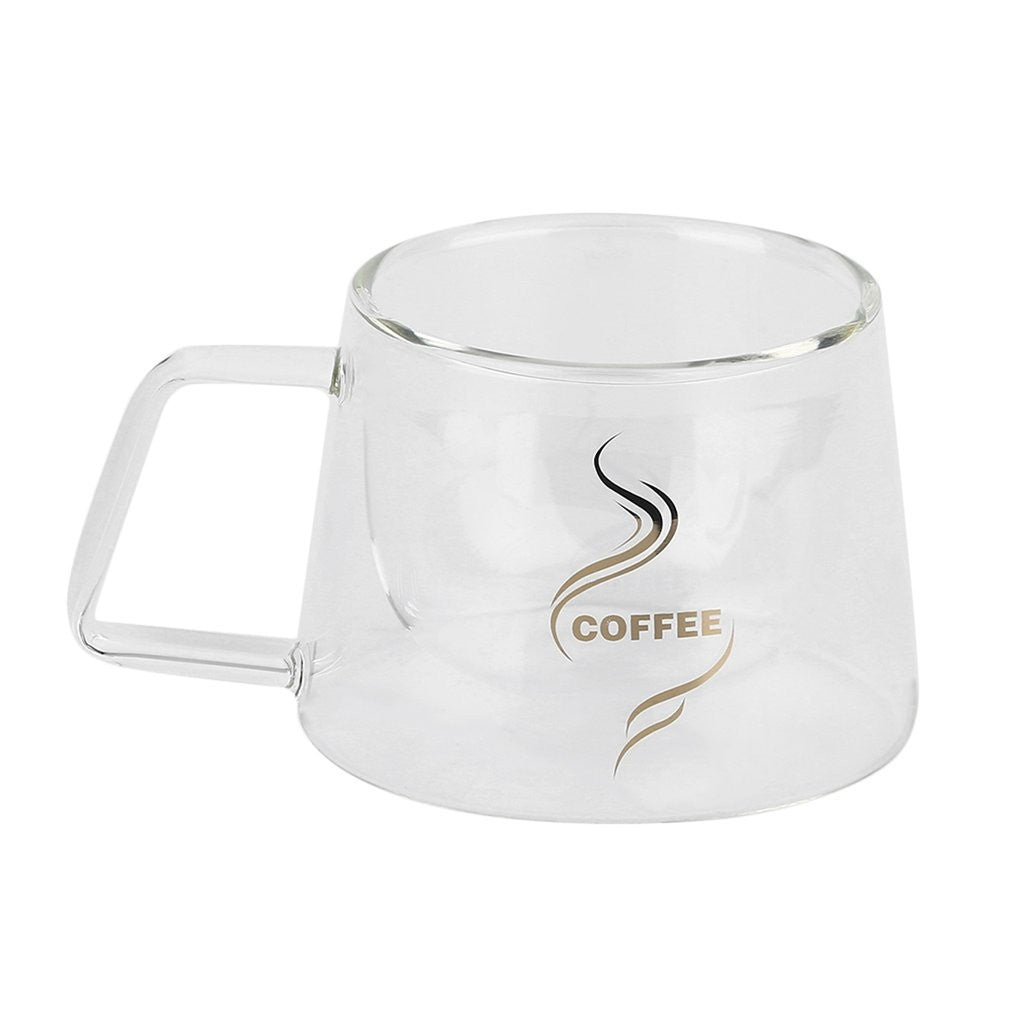 Fashion Design Double Layer Handblown Frosted Glass Coffee or Tea Mug - Smoky Mountain Fresh Roast Coffee