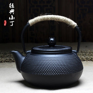 Extra-Large 900ml Iron Kettle Kung Fu Japanese Cast Iron Teapot - Optional Tea Stove - Smoky Mountain Fresh Roast Coffee