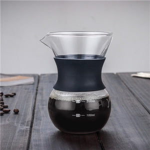 200ml/400ml Hand-brewed Espresso Drip Coffee Maker with Reusable Filter Tool - Smoky Mountain Fresh Roast Coffee