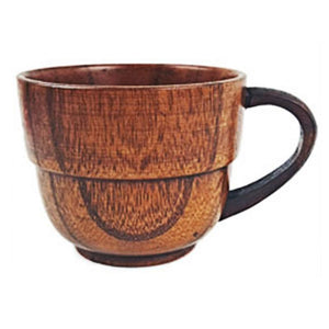 160ml Primitive Coffee or Tea Mug - Handmade of Natural Wood - Smoky Mountain Fresh Roast Coffee