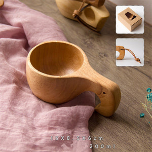 New Chinese Portable Wood Coffee or Tea Mug Handmade of Rubber Wood - Smoky Mountain Fresh Roast Coffee