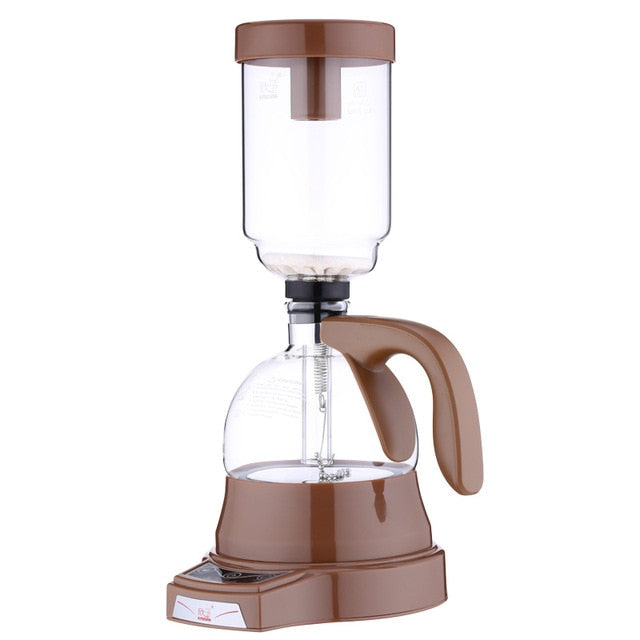 Electric Japanese Style Vacuum Siphon Coffee Brewer - makes 3 cups. Choice of EU or US plug - Smoky Mountain Fresh Roast Coffee