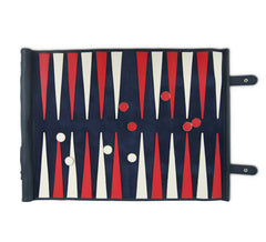 Large Roll Up Backgammon Navy