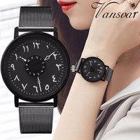 Creative Turn Dial Arabic Watch