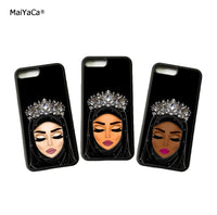 Melanin Hijabi phone case muslim phone case brown hijabi phone case
