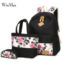 3 Pcs Flower Backpack Set
