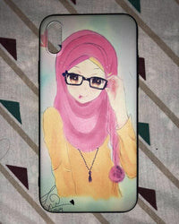 Cute Girl Hijabi Iphone Case