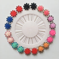 20 Piece Flower Shaped Pins