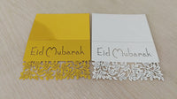 50 Eid  Mubarak Table Cards
